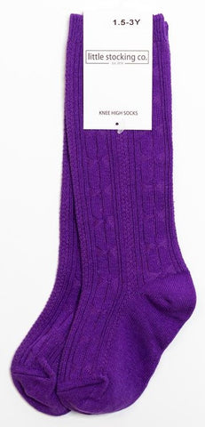 Little Stocking Co Knee High Sock - Grape