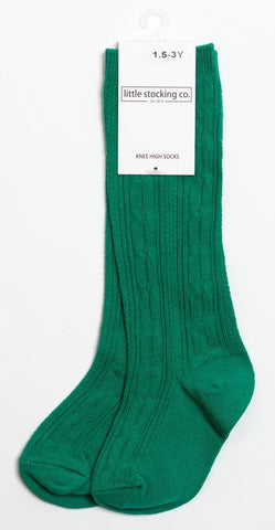 Little Stocking Co Knee High Sock - Emerald