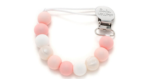 LouLou Lollipop Baby Powder Silicone Pacifier Clip