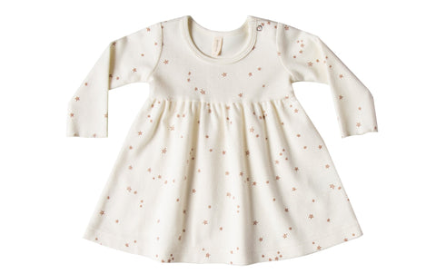 Quincy Mae Ivory Longsleeve Baby Dress