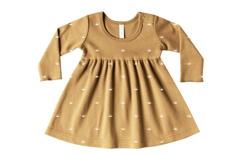 Quincy Mae Honey Longsleeve Baby Dress