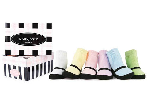 Trumpette Pastel Mary Janes Sock Set