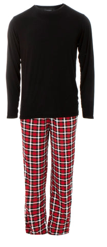 KicKee Pants Crimson 2020 Holiday Plaid Men's L/S Pajama Set