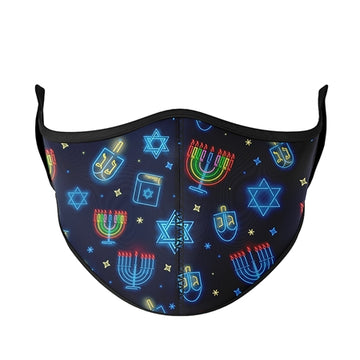 Kids Hanukkah Face Mask by Top Trenz - Small: 3-7 Years