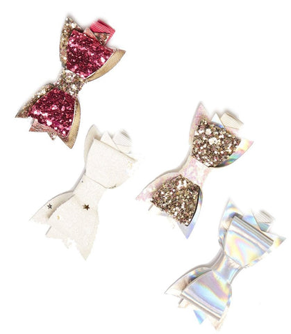 iloveplum Millie Hair Clip Set - Basically Bows & Bowties