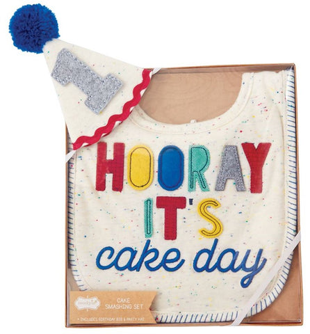 Mud Pie 1st Birthday Boy Cake Smashing Set