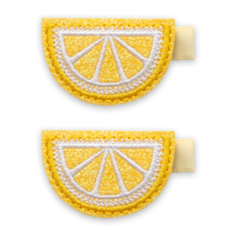 Baby Bling Lemon Slice Clip Set