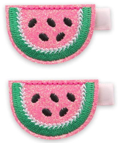 Baby Bling Melon Slice Clip Set