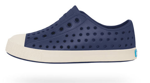 Native Jefferson Shoes-Regatta Blue/Bone