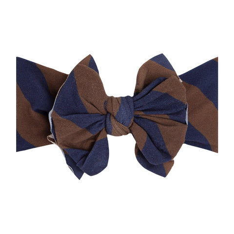 Baby Bling Navy / Bronze Printed FAB-BOW-LOUS