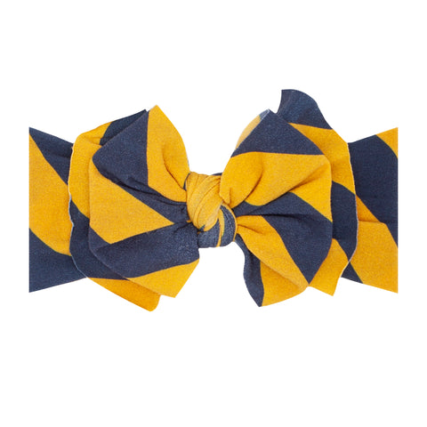 Baby Bling Navy / Gold Printed FAB-BOW-LOUS