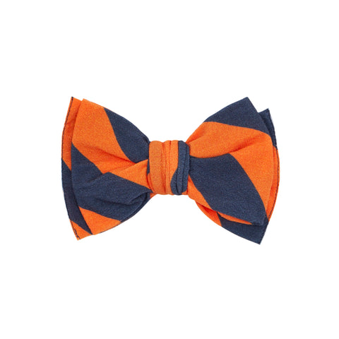 Baby Bling Navy / Orange Printed Classic Clip