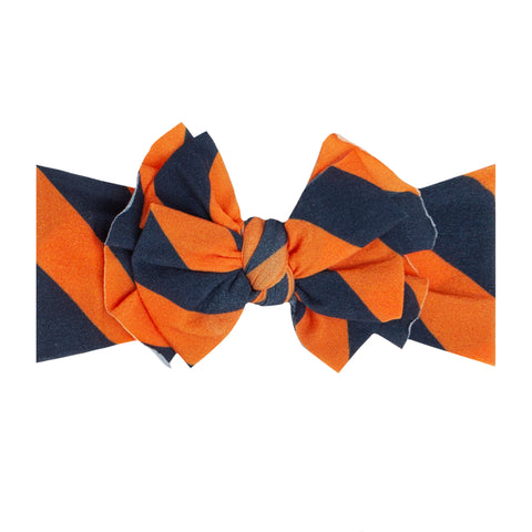 Baby Bling Navy / Orange Printed FAB-BOW-LOUS