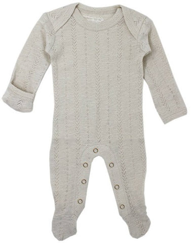 L'ovedbaby Stone Pointelle Lap Shoulder Footie
