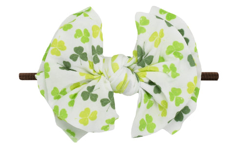 Baby Bling Lucky Charm / Brown FAB-BOW-LOUS Skinny Headband