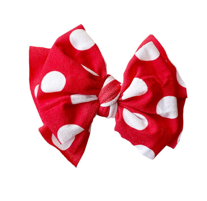 Baby Bling Red Polka Dot Printed FAB-BOW-LOUS Clip