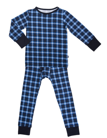 Sweet Bamboo Blue Plaid 2pc Pajama Set