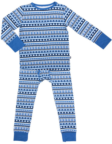 Sweet Bamboo Blue Tribal 2pc Pajama Set
