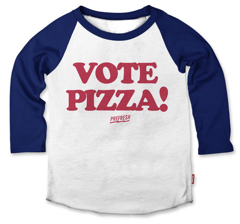Prefresh Vote Pizza Raglan Tee - Basically Bows & Bowties