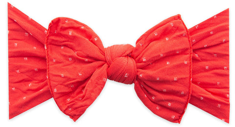 Baby Bling Cherry Dot Patterned Knot Headband