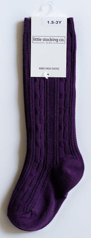 Little Stocking Co Plum Knee High Socks