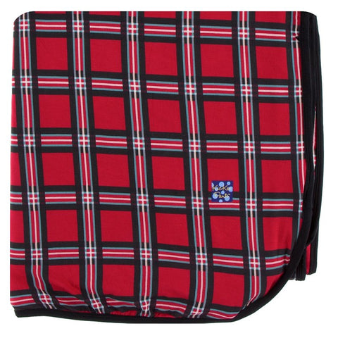 KicKee Pants Christmas Plaid 2019 Double Layer Throw Blanket