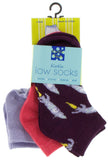 KicKee Pants Low Sock Set - Lilac/Red Ginger/Wine Grapes Rockets