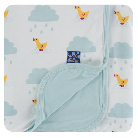 KicKee Pants Natural Puddle Duck Stroller Blanket Basically Bows & Bowties