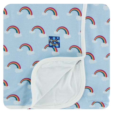 KicKee Pants Pond Rainbow Stroller Blanket Basically Bows & Bowties