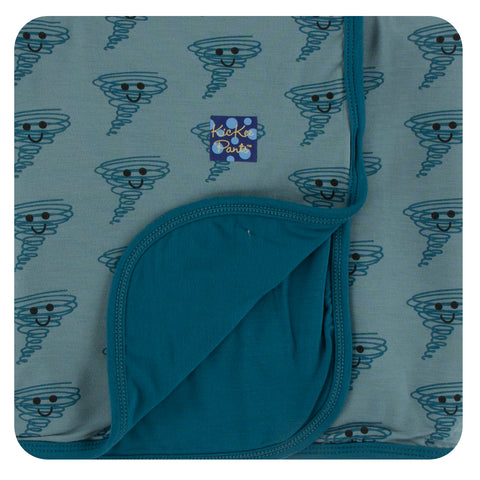 KicKee Pants Happy Tornado Stroller Blanket Basically Bows & Bowties