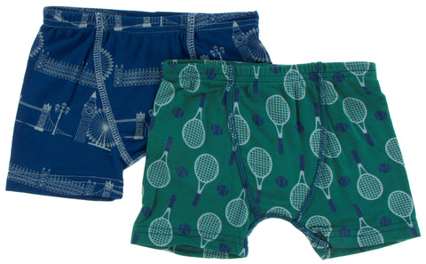 KicKee Pants London Cityscape & Ivy Tennis Boxer Briefs Set