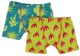 KicKee Pants Seagrass Cactus & Meadow Chili Peppers Boy's Boxer Brief Set