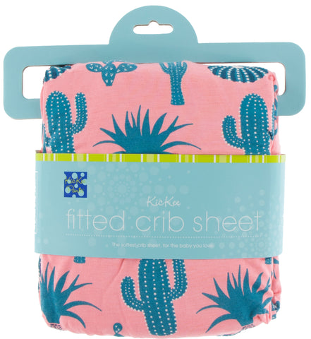 KicKee Pants Strawberry Cactus Fitted Crib Sheet