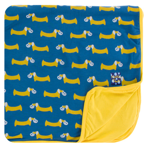 KicKee Pants Twilight Pretzel Pup Toddler Blanket-PRESALE - Basically Bows & Bowties