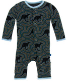 KicKee Pants Midnight Kangaroo Coverall with Snaps
