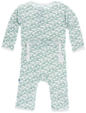 KicKee Pants Jade Mushroom Coverall with Snaps