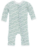 KicKee Pants Jade Mushroom Coverall with Snaps Basically Bows & Bowties