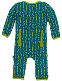 KicKee Pants Oasis Worms Coverall with Snaps