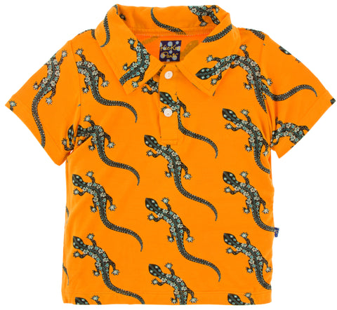 KicKee Pants Apricot Bead Lizard Short Sleeve Polo