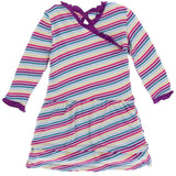 KicKee Pants Girl Perth Stripe Drop Waist Dress - Basically Bows & Bowties