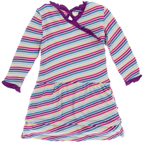 KicKee Pants Girl Perth Stripe Drop Waist Dress