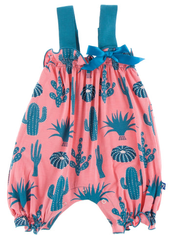 KicKee Pants Strawberry Cactus Gathered Romper