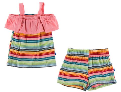 KicKee Pants Cancun Strawberry Stripe Cancun Girl Outfit
