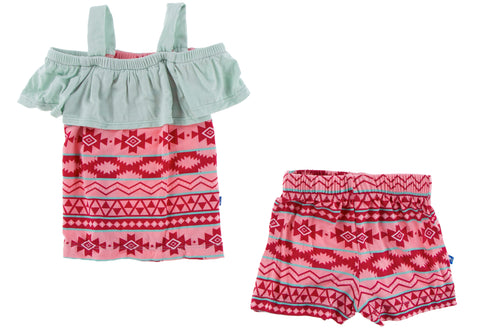 KicKee Pants Strawberry Mayan Pattern Cancun Girl Outfit