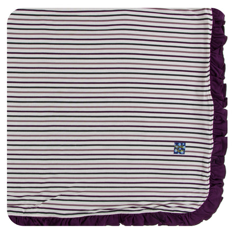 KicKee Pants Tuscan Vineyard Stripe Ruffle Toddler Blanket