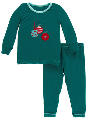 KicKee Pants Cedar Ornaments Applique Pajama Set