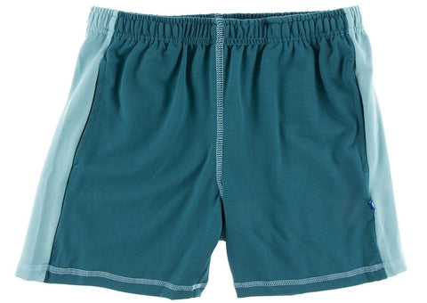 KicKee Pants Oasis with Glacier Performance Jersey Sport Shorts