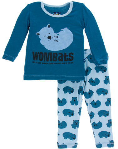 KicKee Pants Pond Wombat Long Sleeve 2pc Pajama Set