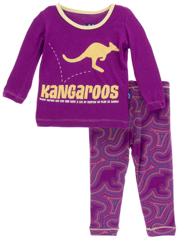KicKee Pants Starfish Kangaroo Long Sleeve 2pc Pajama Set