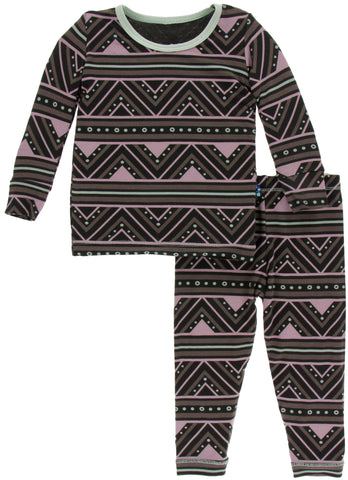 KicKee Pants African Pattern Long Sleeve Pajama Set - Basically Bows & Bowties